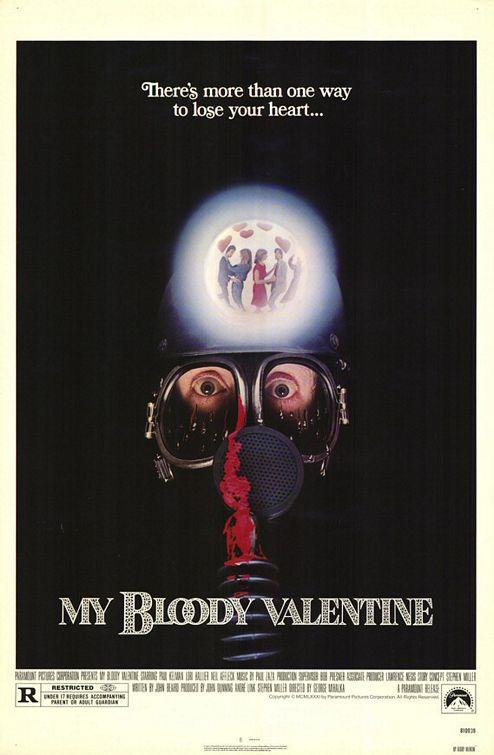 Cartel de la primera versión de Bloody Valentine