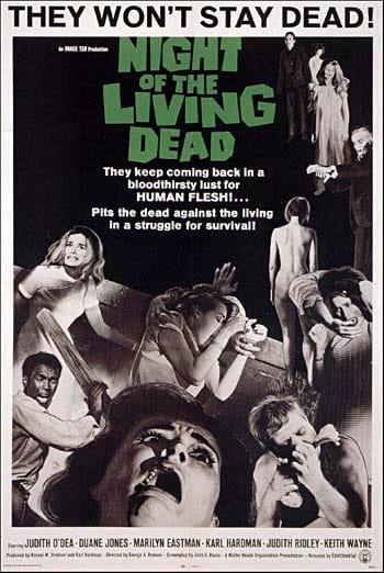 Póster de la película de 1968 dirigida por George Romero