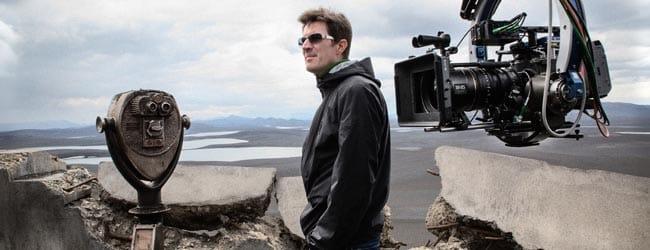 Joseph Kosinski filmando en locación 'Oblivion'