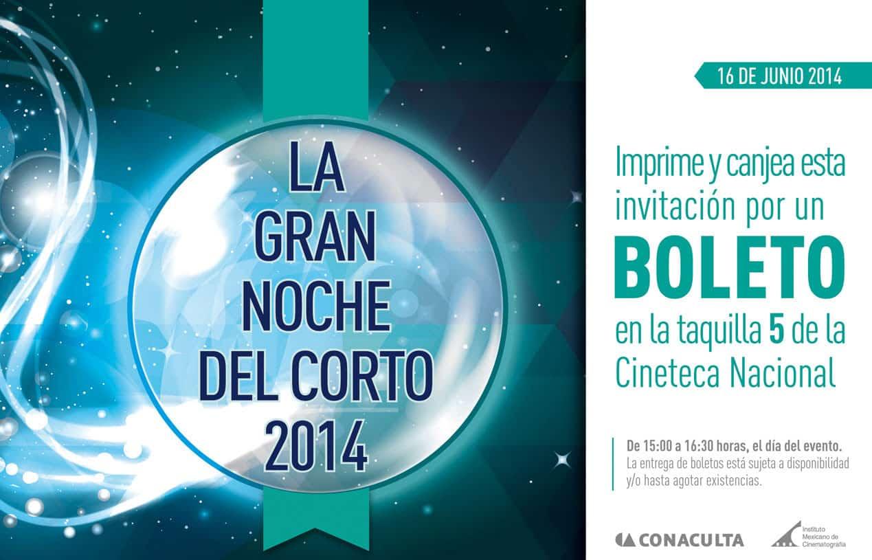 Gran Noche del Corto 2014 invitación