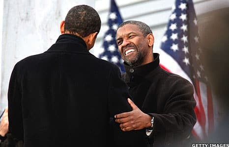Denzel Washington y Barack Obama