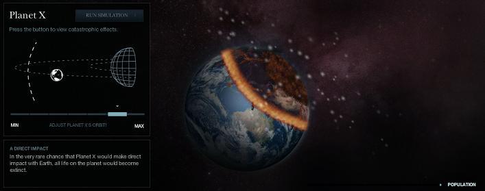 una forma de que la tierra podría terminar en el 2012