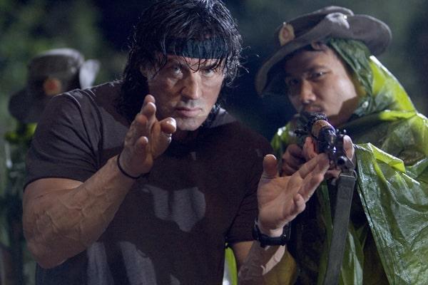 Sylvester Stallone dirigiendo Rambo 4