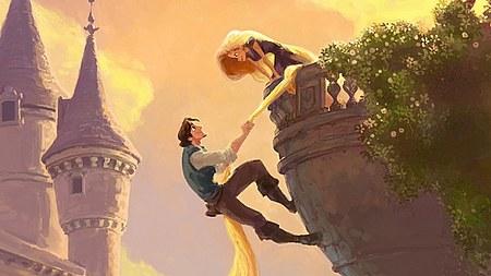 Imagen-concepto de Rapunzel