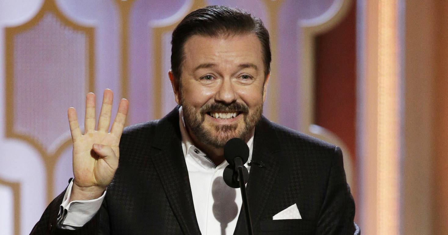 Ricky Gervais será el anfitrión de los Premios Golden Globes 2020