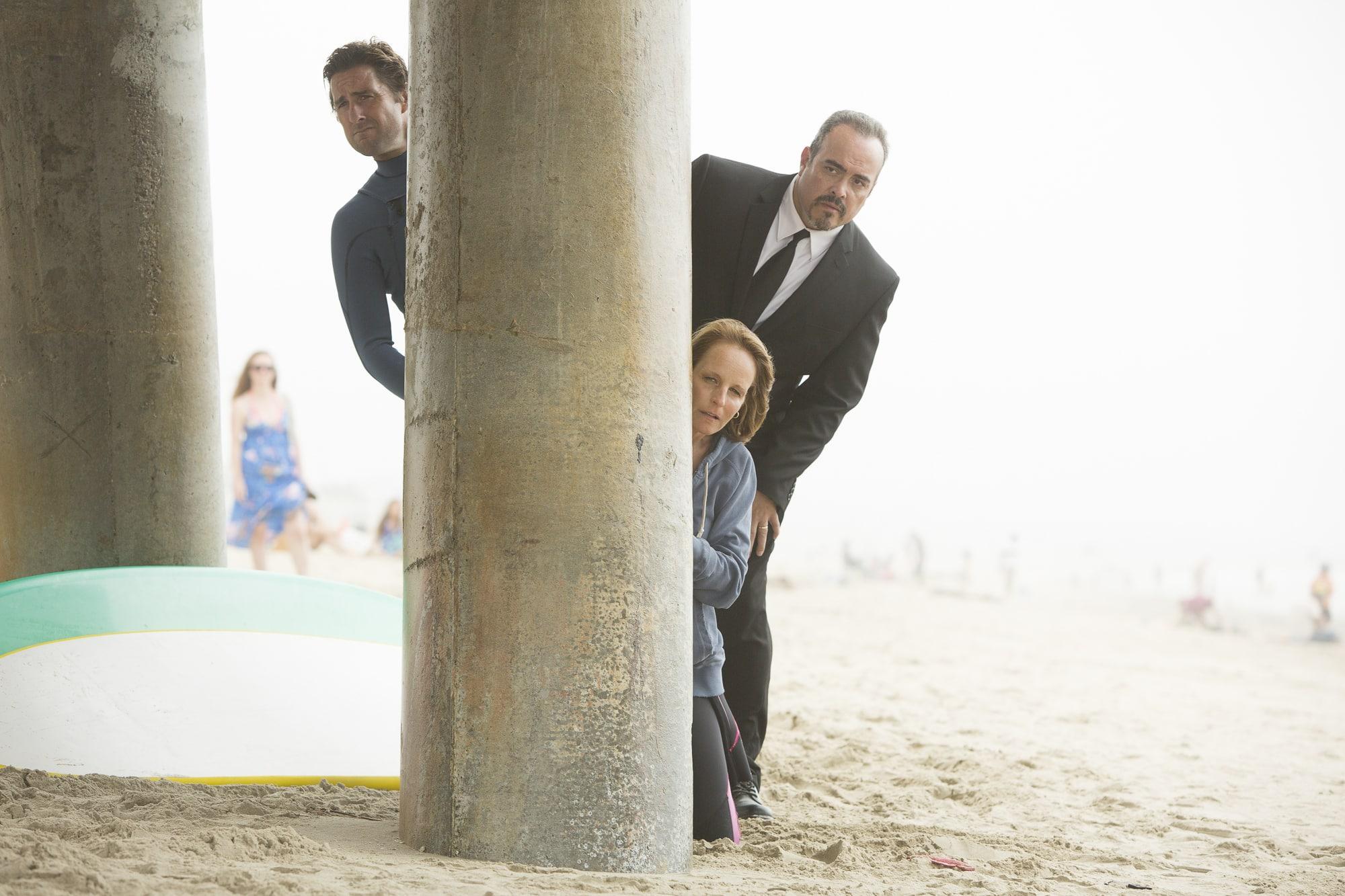Luke Wilson, Helen Hunt y David Zayas, en imagen de la película, 'Ride'.© Screen Media Films