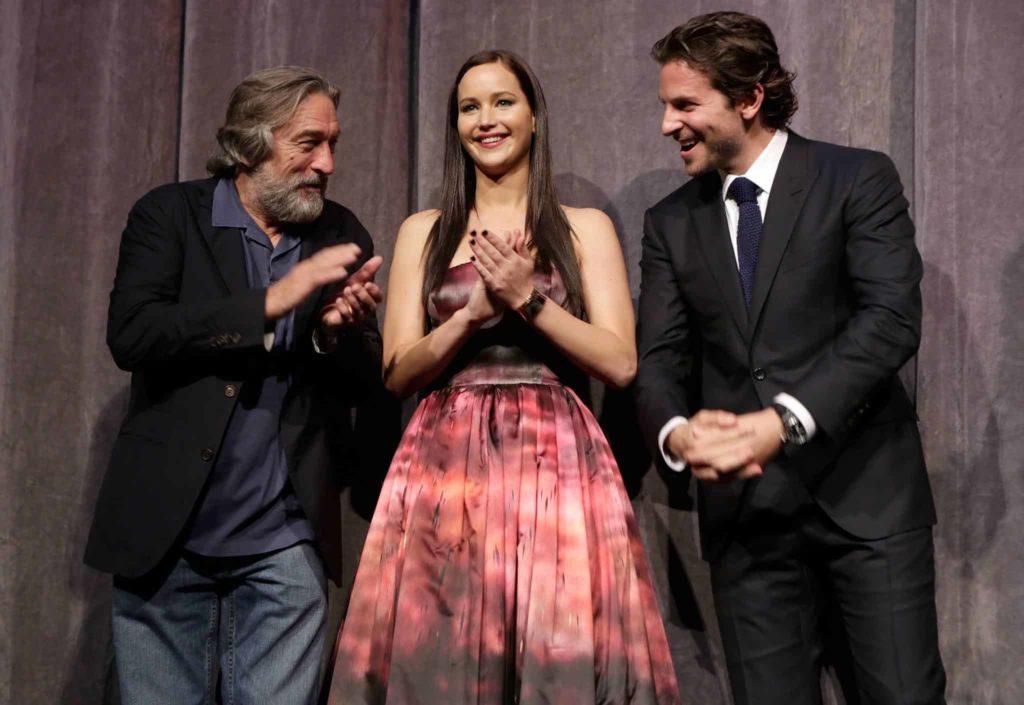 Robert De Niro, Jennifer Lawrence y Bradley Cooper