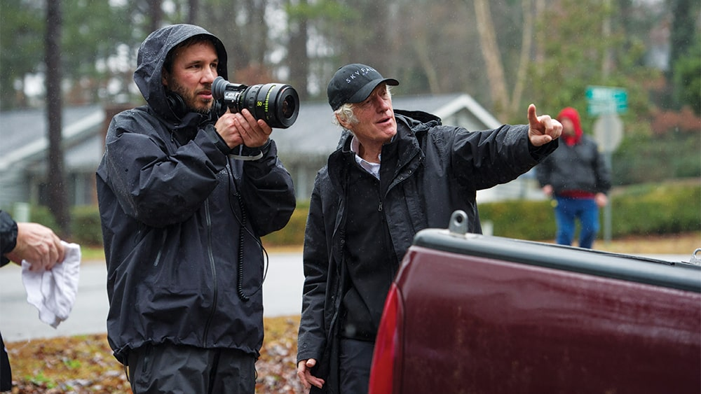 Denis Villeneuve y Roger Deakins en la filmación de 'Prisoners'
