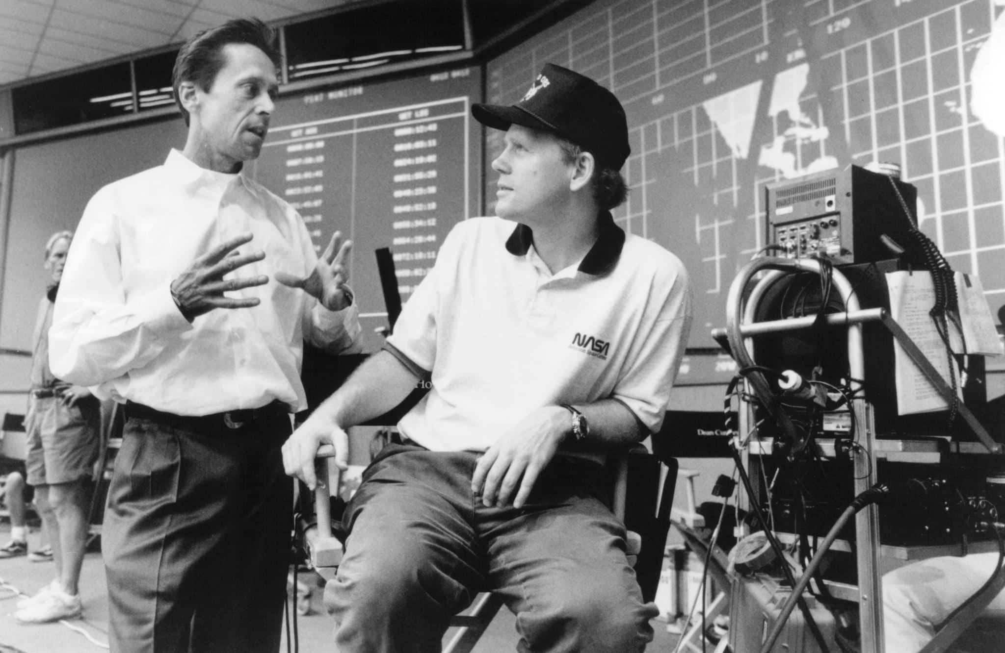Ron Howard y Brian Grazer en el set de filmación de 'Apollo 13'.