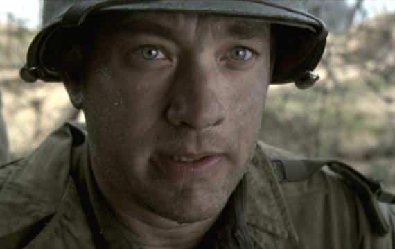 """Hanks en """"Salvando al Soldado Ryan"""""""