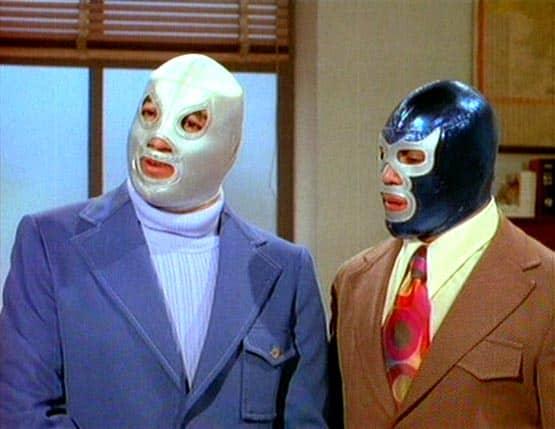 Santo y Blue Demon en una de sus tantas películas