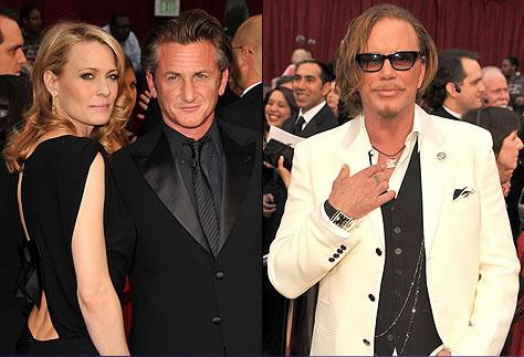 Sean Penn y Mikey Rourke - Alfombra Roja Oscar 2009