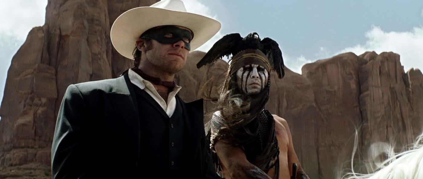 Armie Hammer, Johnny Depp, The Lone Ranger.