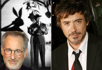 Steven Spielberg, Jimmy Stewart y Robert Downey Jr.