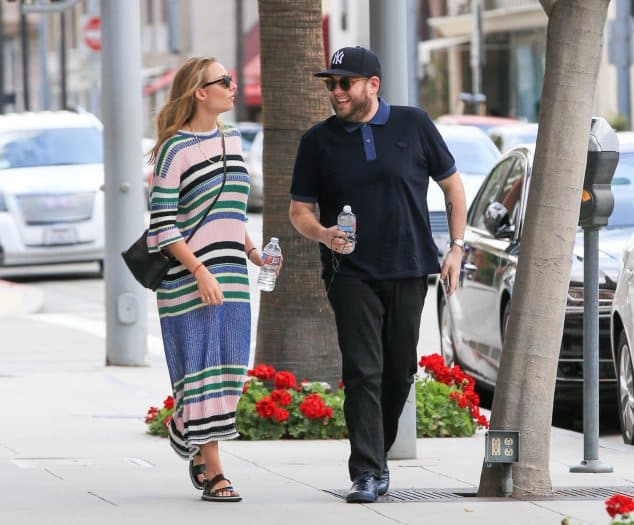 Jonah Hill and Camille in Beverly Hills