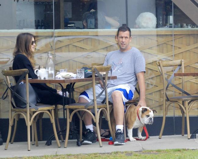 Adam Sandler and wife Jackie Sandler breakfast date in Santa Monica