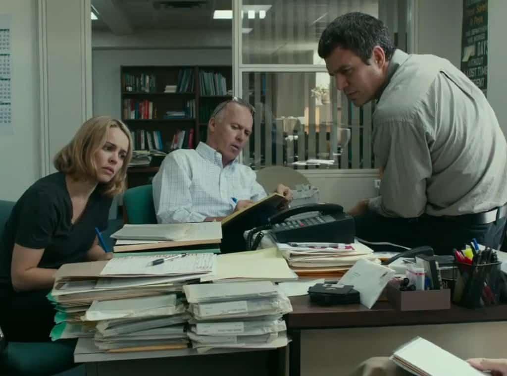 Rachel McAdams, Michael Keaton y Mark Ruffalo protagonizan la cinta 'Spotlight'. © 2015 - Open Road Films
