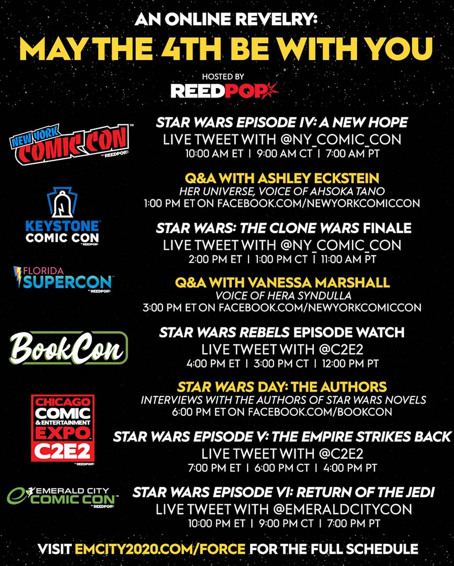 La saga Star Wars celebrará convención virtual el 4 de mayo