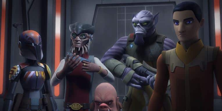 Our very fisrt look at season 3 of Star Wars rebels took place in the star wars show