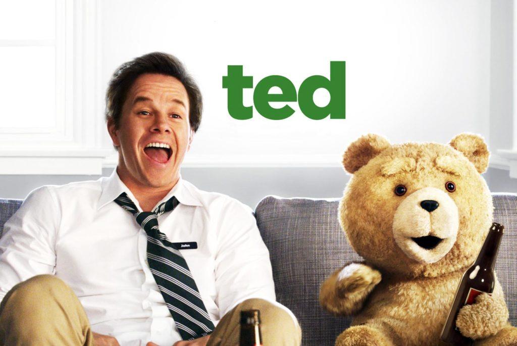 """Mark Wahlberg y Ted en """"Ted"""""""