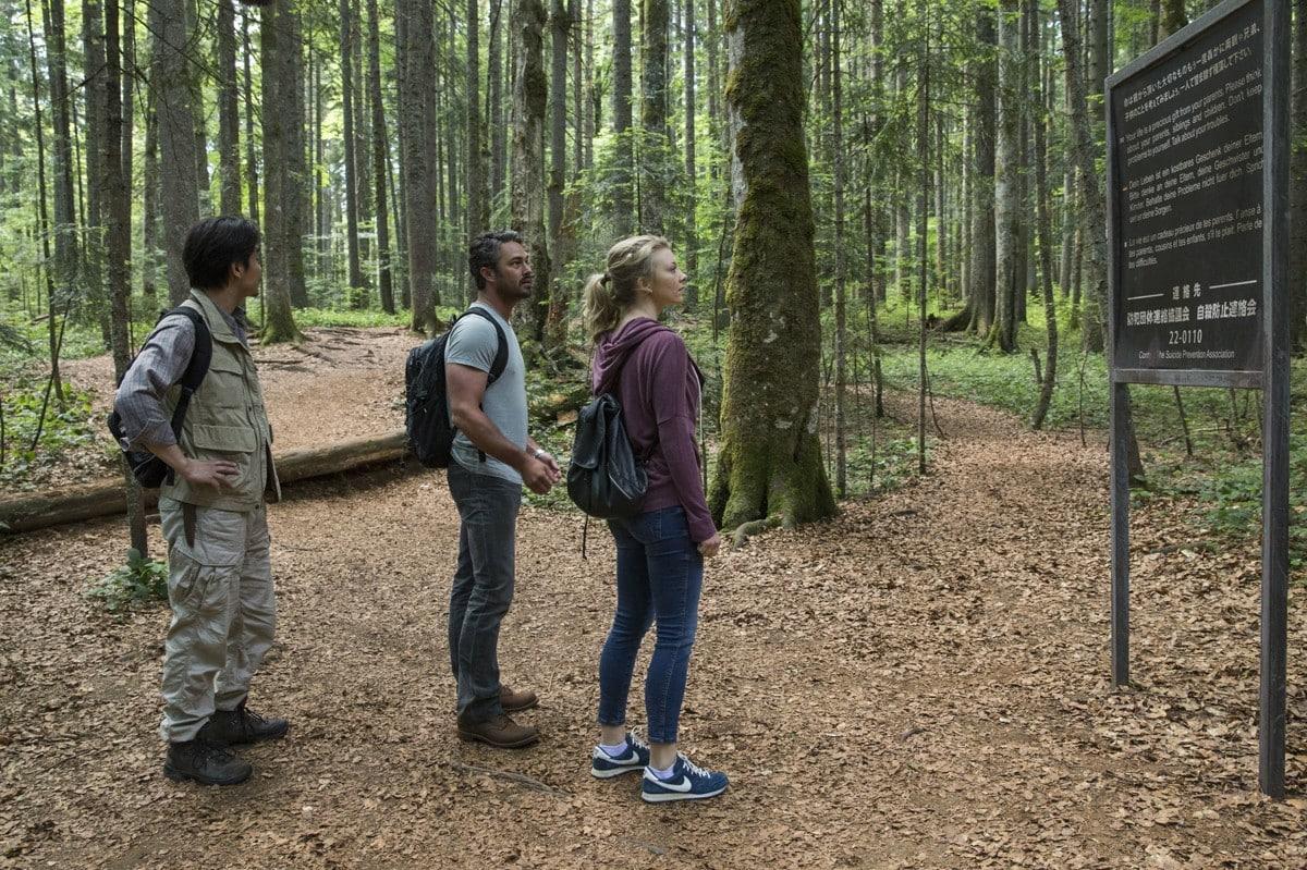 Elenco de la cinta de terror 'El Bosque Siniestro' (The Forest). © 2015 - Gramercy Pictures