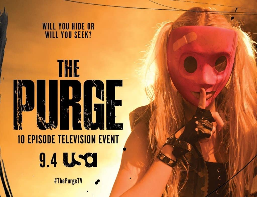 La serie The Purge libera pósters oficiales de cara a estreno en septiembre