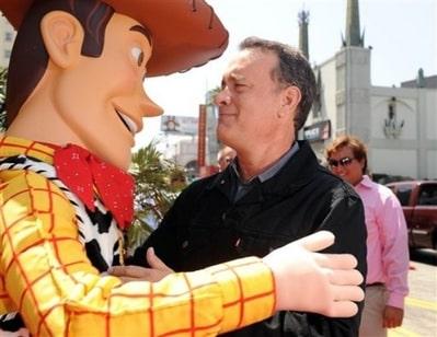 Woody y Tom Hanks. Foto: AP/Katy Winn