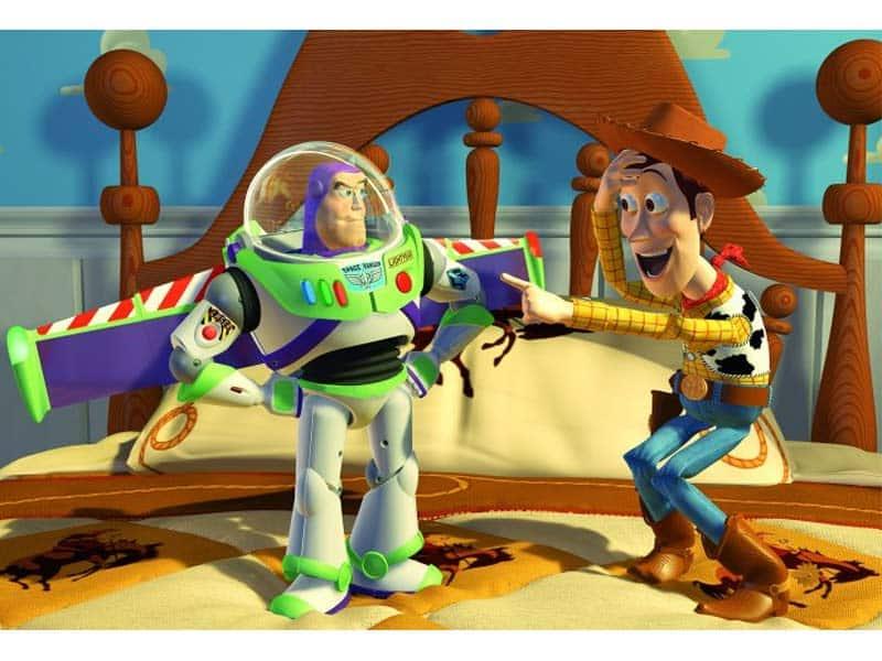 Buzz y Woody, de la franquicia Toy Story