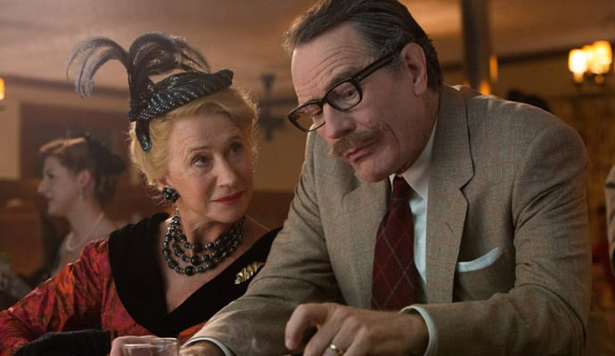 Helen Mirren y Bryan Cranston en la biopic del guionista de Hollywood, Dalton Trumbo. Photo by Hilary Bronwyn Gayle
