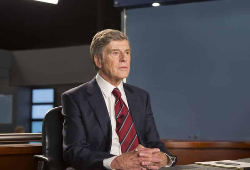 Robert Redford interpreta al anteriormente presentador de noticias de CBS, Dan Rather. © 2015 - Sony Pictures Classics