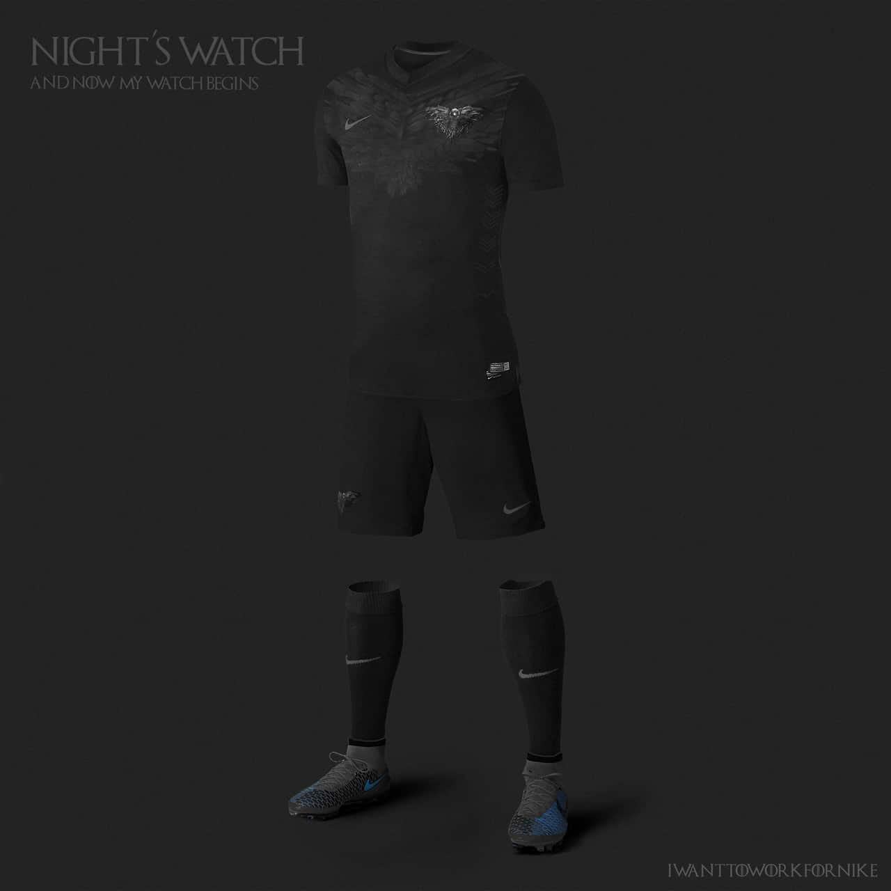#nightswatch from #castleblack looks like #nowmywatchbegins. #Jonsnow will look nice on it. #gameofthrones #nikefootball