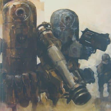 Imagen-concepto de World War Robot