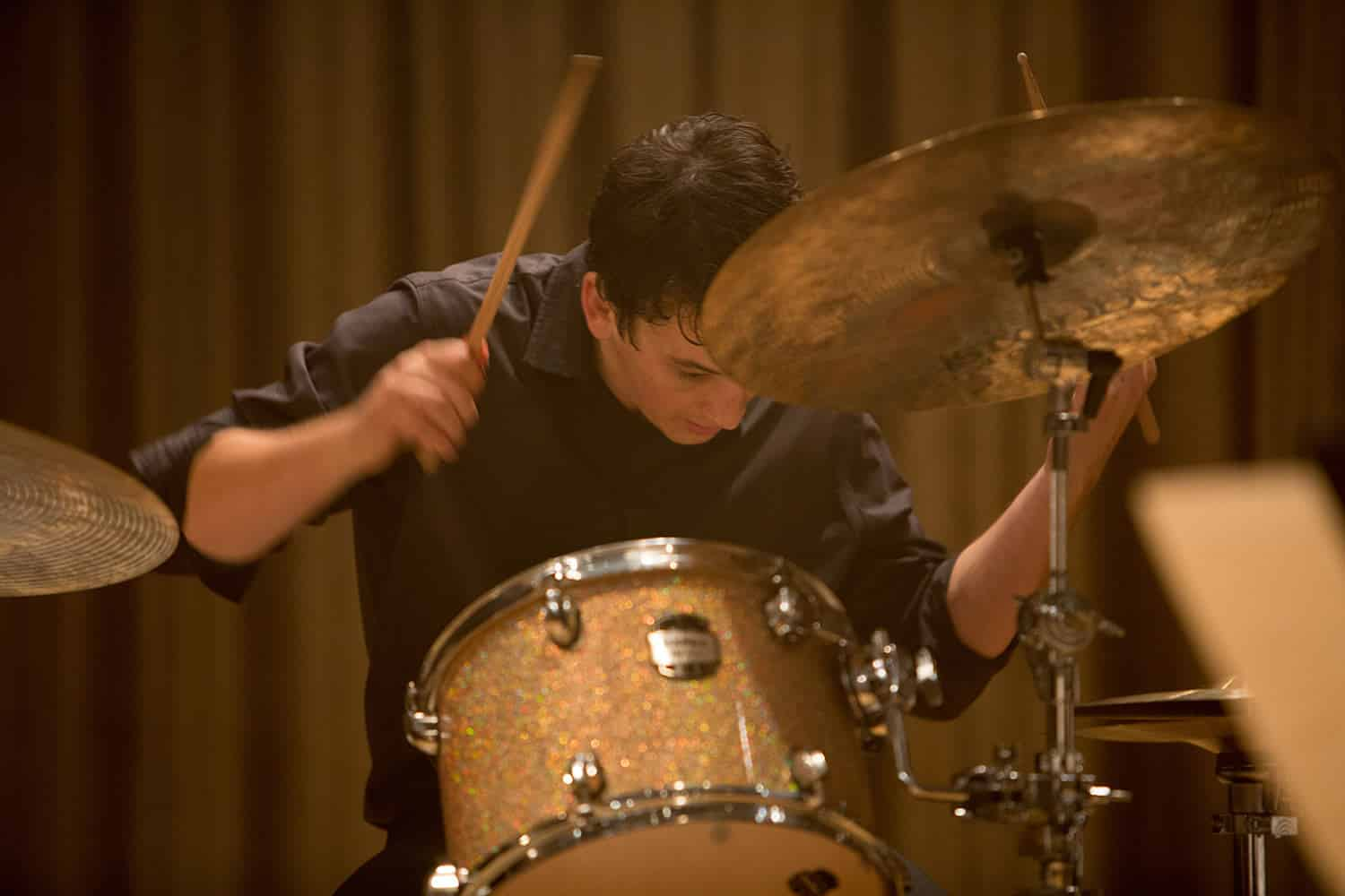 Andrew Newman Playing Drumms