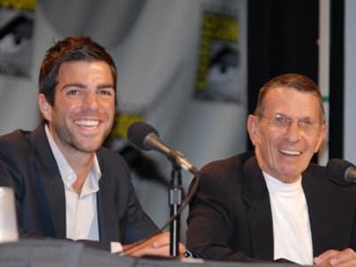 Zachary Quinto y Leonard Nimoy, dos versiones diferentes del señor Spock