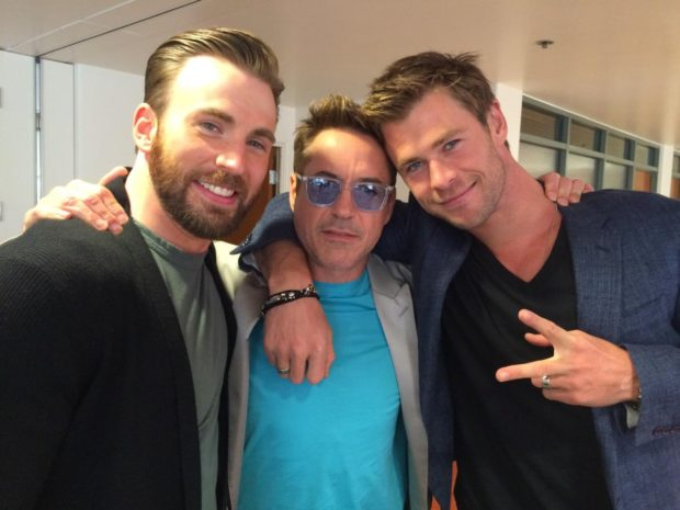 Chris Hemsworth, Chris Evans, Robert Downey Jr