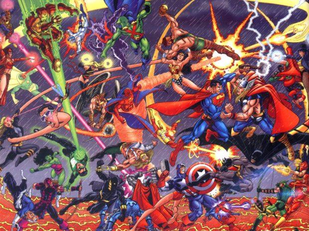JLA vs Avengers DC Marvel