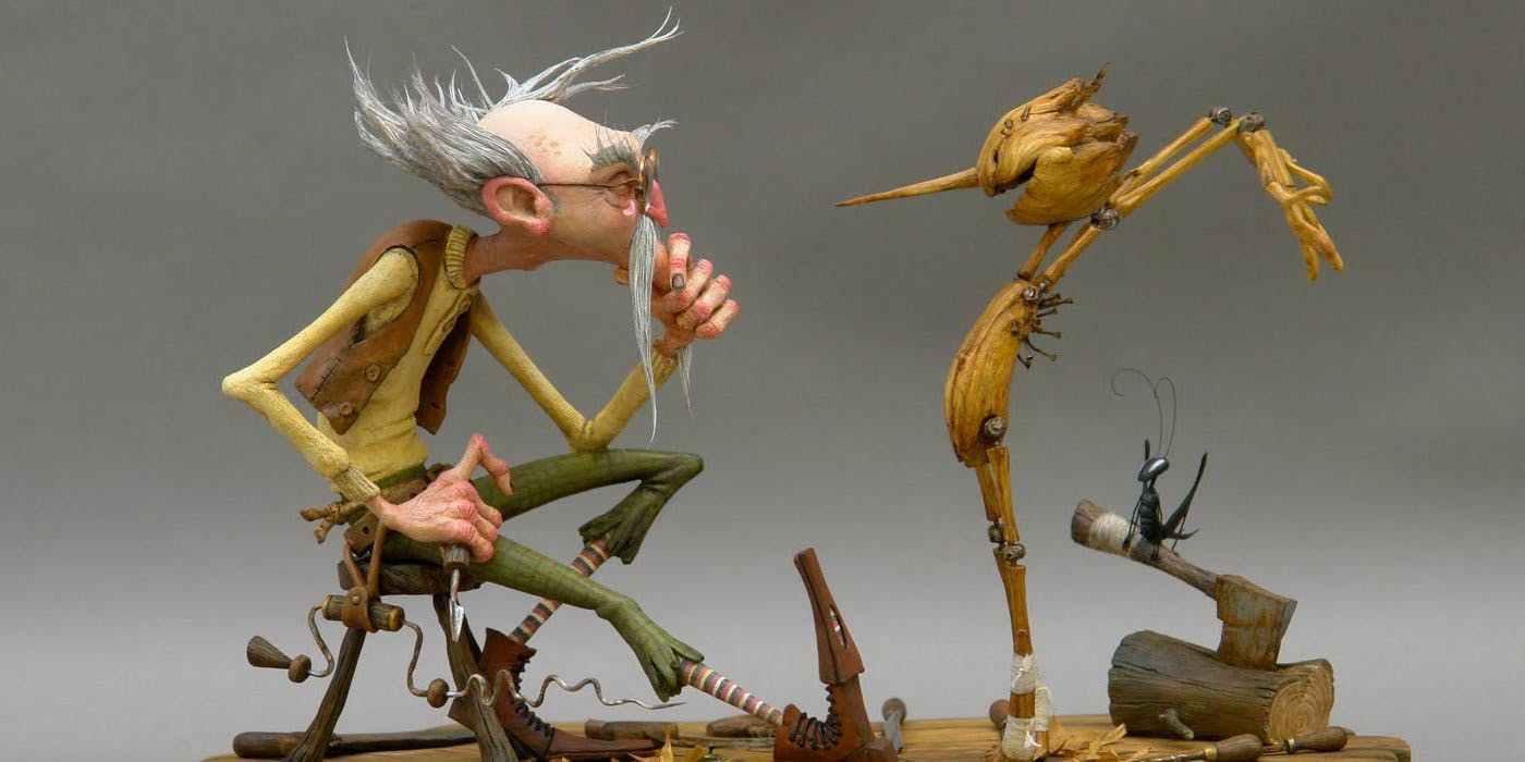 Guillermo del Toro y el maravilloso elenco de Pinocchio en stop-motion