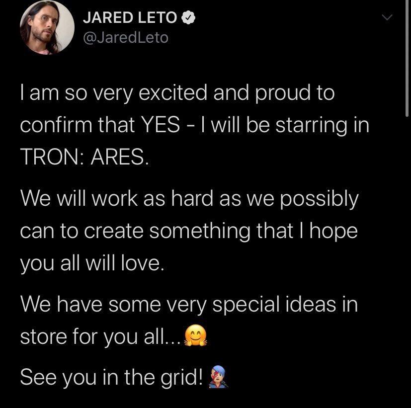 Habrá nueva Tron con Jared Leto y el director Garth Davis para Disney