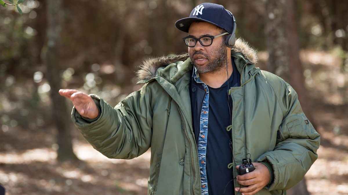 Jordan Peele en el set de 'Get Out'