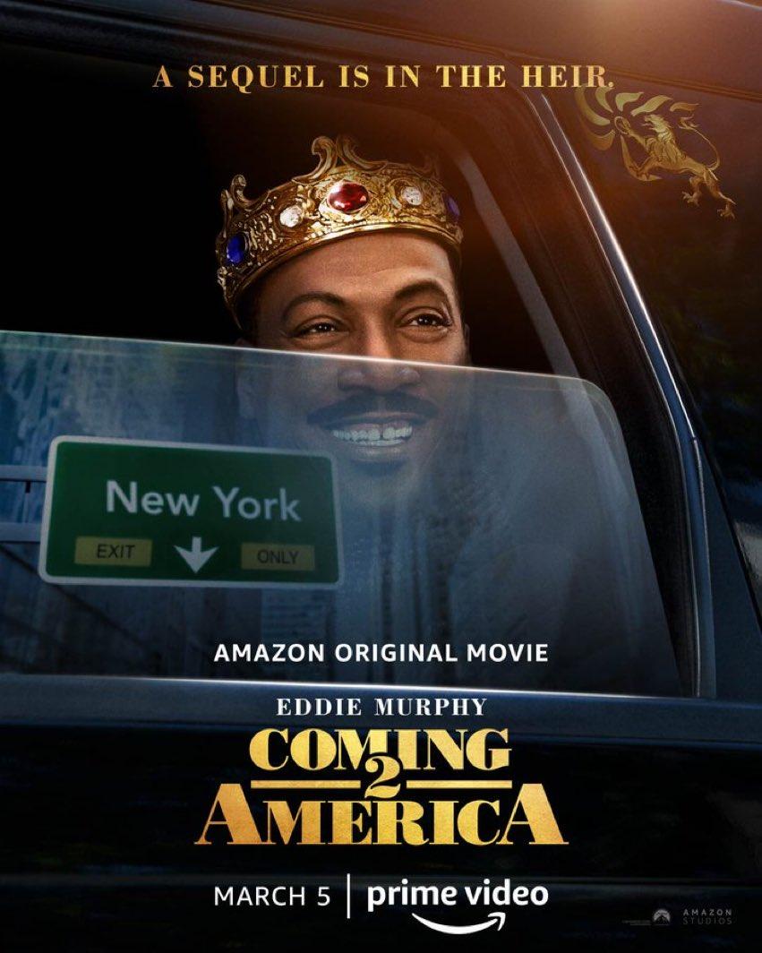 Primer póster oficial de 'Coming 2 America' de Amazon Studios